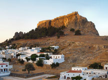 Lindos Acropolis, Rhodes, Greece Stock Photos