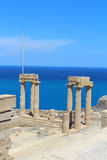 Lindos Acropolis. Rhodes, Greece Royalty Free Stock Images