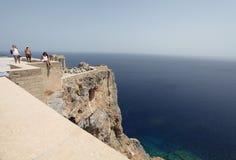 Lindos Acropolis Rhodes island, Greece Stock Photo