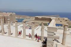 Lindos Acropolis Rhodes island, Greece Stock Image