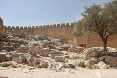 Lindos Acropolis Rhodes island, Greece Royalty Free Stock Photography