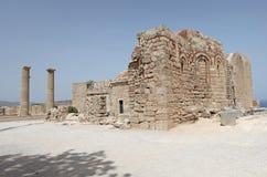 Lindos Actopolis. Rhodes island, Greece Royalty Free Stock Photos
