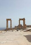 Lindos Actopolis. Rhodes island, Greece Stock Image