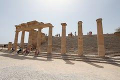 Lindos Actopolis. Rhodes island, Greece Stock Photography