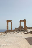Lindos Actopolis Rhodes wyspa, Grecja Obraz Stock