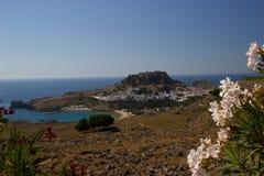 Lindos Akropolis Rhodos Greece stock image
