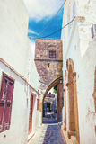 Lindos antique street Stock Images