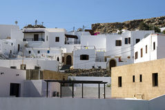 Lindos architecture - Greek Royalty Free Stock Photos