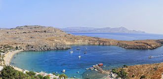 Lindos Bay Stock Image