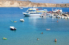 Lindos Bay Royalty Free Stock Image