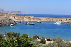 Lindos bay Stock Photo