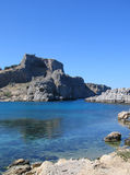 Lindos Bay Royalty Free Stock Photo