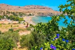 Lindos Bay. Rhodes, Greece Stock Photography