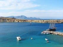 Lindos Bay, Rhodes island Royalty Free Stock Photo