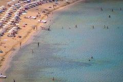 Lindos bay, Rhodos, Greece. Famous Lindos bay on Rhodos island, Greece royalty free stock image