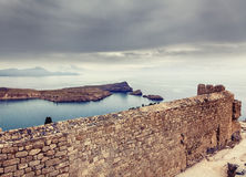 Lindos bay view Royalty Free Stock Photography