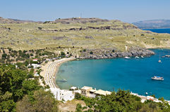 Lindos beach Royalty Free Stock Photos