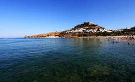Lindos Beach Royalty Free Stock Image