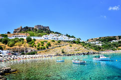 Lindos beach Royalty Free Stock Photo