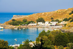 Lindos Beach Rhodes Greece Stock Image