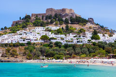 Lindos Castle stock photography