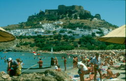 Lindos Castle Royalty Free Stock Photography