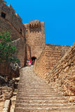 Lindos Castle on the island of Rhodes. Stock Image