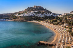Lindos Castle and village Royalty Free Stock Photo