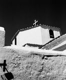 Lindos Church With Two Crosses Stock Photo