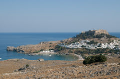 Lindos city view Royalty Free Stock Photography