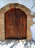 Lindos Door Rhodes Greece Stock Photo