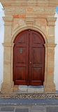 Lindos Door Rhodes Greece Royalty Free Stock Image