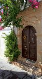 Lindos Door Rhodes Greece Royalty Free Stock Images