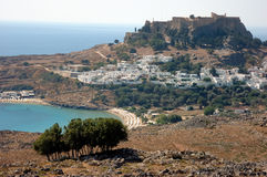 Lindos greece Royalty Free Stock Photo