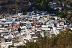 Cityscape of Lindos, Greece Stock Images