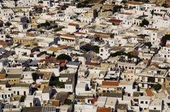 Lindos Greece Rhodes 2011. Old town on the Mediterranean coast Royalty Free Stock Photo