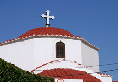 Lindos Greek orthodox church cupola Stock Photography