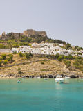 Lindos Grekland Fotografering för Bildbyråer
