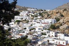 Lindos - Griekenland stock foto's