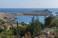 Lindos, Griekenland stock foto's