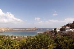 Lindos i Rhodes Arkivbild