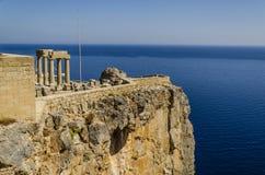 Lindos mythological town of the old greek stock image