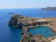 Lindos panorama Stock Photography