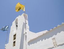 Lindos - Rhode. Orthodox church in Lindos, Island of Rhodes Stock Photography