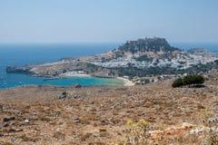 lindos rhodes Греции Стоковые Изображения