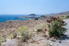 lindos rhodes Греции Стоковое фото RF