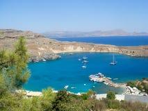 lindos rhodes Греции Стоковые Изображения RF