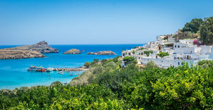 Lindos Rhodes Stock Photo