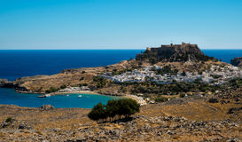 Lindos in Rhodes stock image