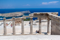 Lindos Rhodes Grèce Image stock